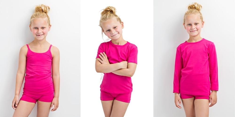 Meisjes t-shirts in diverse kleuren en maten